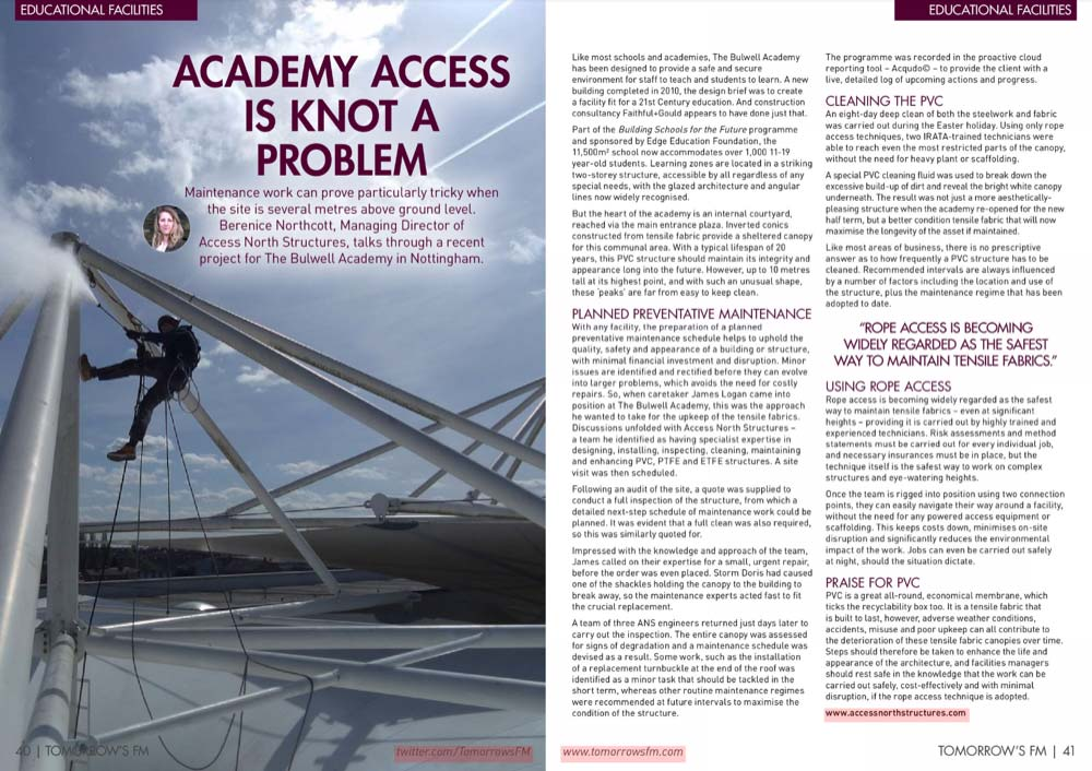 Tomorrow's FM Article - Access North Structures